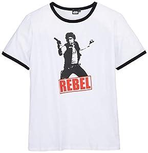 ABYstyle abystyleabytex043_ gd-xxl Abysse Star Wars Han Solo Rebel hombre de manga corta Fashion camiseta (2x -Large)