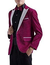 Traje De Hombre Chaquetas Esmoquin Prom Party Moda De Los Ropa Hombres  Glamorous Traje Chaqueta Blazer bf5f7bc6397