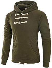 Sudaderas Hombre, Xinan Hombres Sólido Chaqueta Suéter con capucha de invierno Manga larga Outwear