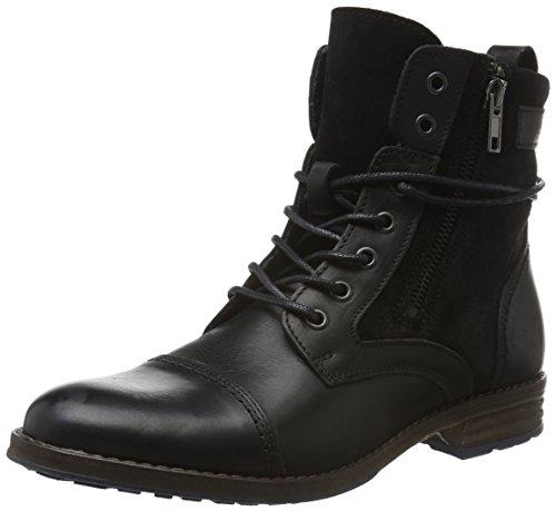 Mustang Damen 2853-507 Combat Boots, Schwarz (9 Schwarz), 40 EU (Bootie Stiefelette Leder)