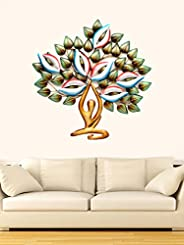 "AONA Metal Wall Decor/Wall Mounted Yoga Tree with LED Light, 30"" X 30&qu"