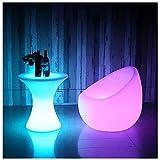 ZDQ Bar Tisch, LED-Licht Barhocker 16 Farben 4 Arten von Beleuchtungsmodus Fernbedienung Licht beleuchteten Tisch für Bar Restaurant 017 (Farbe : Variable light, größe : 58cm*58cm*60cm)