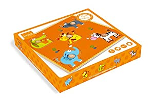 Scratch Rasca 6181026 - Botones Puzzle Safari Caja de Madera