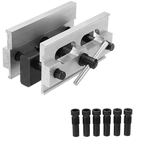 Selbstzentrierende Dübel Jig Jointing Bohren Loch DIY Holzbearbeitung Bohrer Guide Locator Kit Möbel Locator Tool mit 1/4''3/8''5/16 '' Drive Adapter -