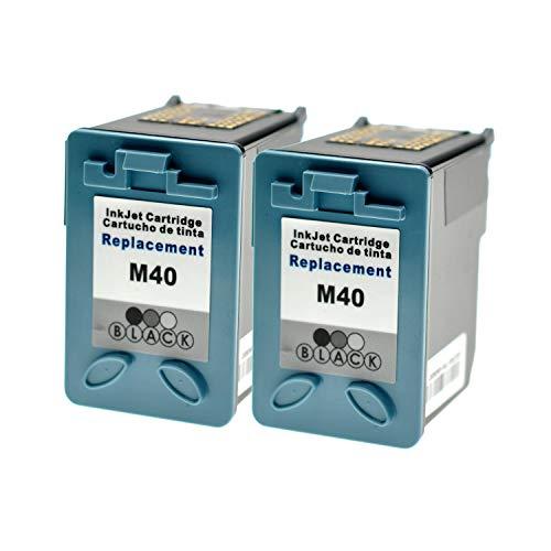 LS 2 Patronen für Samsung INK-M40 Black Schwarz je 20ml,kompatibel -