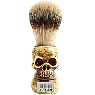 ADIASEN Luxury Skull Badgers Beard Brush Für Männer Make-up-Pinsel