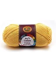 Hilo de 100% algodón, color limón, de Lion Brand Yarn Company