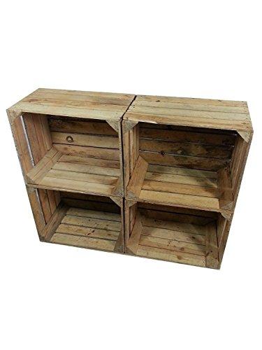 4 pieza cajas individuales estables frutas utilizadas para estanterías óptima / muebles de almacenamiento y decoración de materiales: madera natural Dimensiones: longitud 50 cm x ancho 40 cm x altura 31 cm de madera de espesor 10 mm! Las cajas de fru...