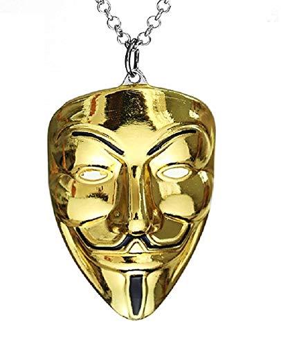 Kostüm Vendetta Mädchen - Lovelegis Kette für Herren - Halsketten - Kino - Fernsehen - V per Vendetta - Erleichterung - Groß - Goldene Farbe