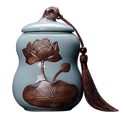 Tee Kanister Gläser Keramik Chinesischen Stil Kürbis Form Doppelschicht Home Küche Frischhaltedose Für Zucker Kaffee Gewürze Würze -