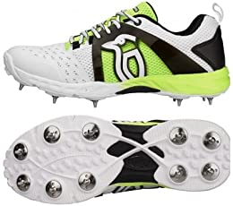 Kookaburra Kcs 2000 Spike Cricket Shoes Size 9 UK (Fluo/Yellow)