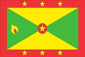 flaggenmeer Tischflagge Tischfahne Grenada, ca. 10 x 16 cm