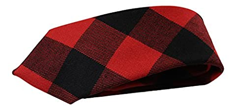 100% Wool Authentic Traditional Scottish Tartan Neck Tie - MacGregor Rob Roy Modern