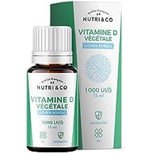 Vitamine D3 Végétale + Huile de Colza BIO | 1000 à 10000 UI | Santé des Os, Dents, Muscles et Système Immunitaire | Absorption Optimale du Calcium | Flacon de 15ml Dosage Facile | Vegan | Nutri&Co