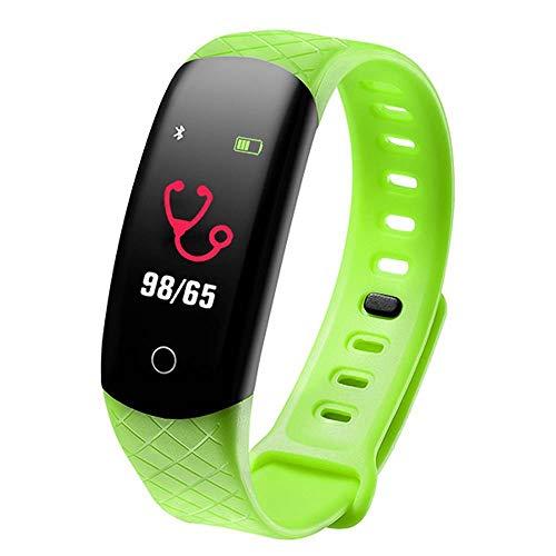 LBAFS Fitness Tracker Wasserdicht Smart Armband Blutdruckmessgerät Sportuhr Beste Gift,Green