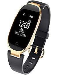 SZPZC Bluetooth wasserdichte Smart Watch Fashion Damen Damen Pulsmesser Fitness Tracker Smartwatch,A