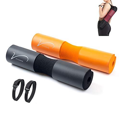 vidafitness barbell cuscino pad per squat, affondi e sollevamento pesi. per sostenere e proteggere collo, spalle e fianchi. per barra standard e olimpica. borsa per il trasporto inclusa