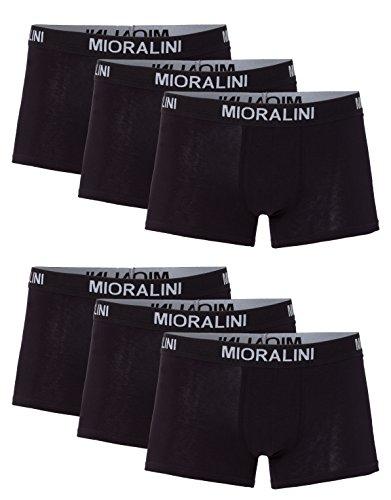 MioRalini 6 Herren Elastan -Baumwoll Boxershort, Modell: 6 STK Set 02SW, Größe: 4XL-10