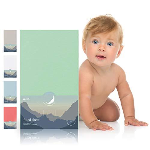 Spannbettlaken für Babybett Kinderbett - 60x120 bis 70x140 cm, atmungsaktiv, 100{1af4783566530fe949eab297e15bc9a39b867469fb6a953c620710b963088a53} Baumwolle