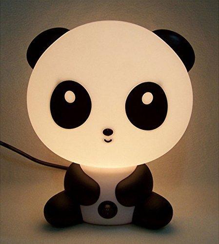 Rosa Schleife® Niedlichen Panda Cartoon LED Nachtlicht Wiederaufladbaren Energiesparlampen kleine Tischlampe Lampe Nachttischlampe Schreibtisch Lampen Licht Schlummerleuchten Licht Säuglingsernährung Baby-Schlafzimmer Schreibtisch Lampen Licht Schlummerleuchten für Kinder LED nachttischlampen für schlafzimmer