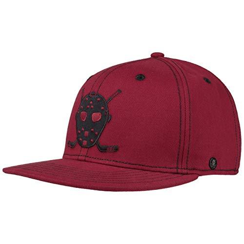 Stetson Cali Twill Snapback Cap Flatbrim Basecap Kappe Baumwollcap| Baseballcap Snapback, mit Schirm, Futter Herbst-Winter | One Size rot Brushed Twill Front Cap