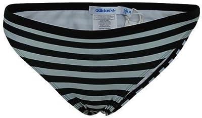 Adidas AC Bikini Bottom Las mujeres se extienden traje de baño Negro/Blanco