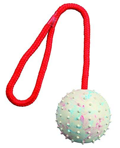 Pelota con Cuerda, Caucho Natural, ø7 cm, 30 cm, Surtido: colores aleatorios