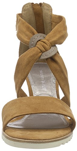 Marco Tozzi 28702 Damen Offene Sandalen mit Blockabsatz Braun (MUSCAT COMB 354)