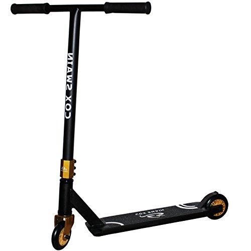 Cox Swain Stunt Scooter Ramp-X345 - ABEC 9 und PU Rollen! - Super Heavy Quality!, Farbe: Schwarz/Gold