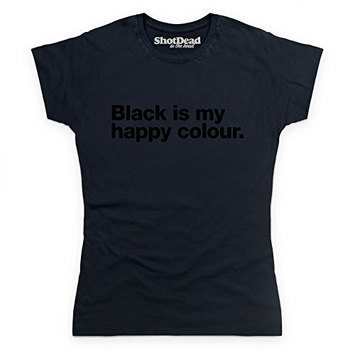 Black Is My Happy Colour T-shirt, Donna, Nero, M