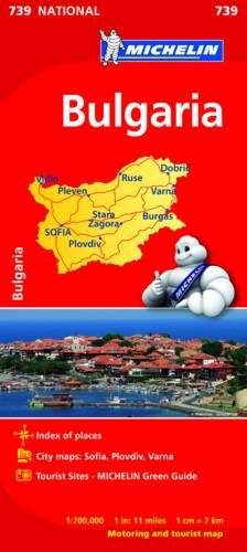 Bulgaria - Michelin National Map 739 (Michelin National Maps) por Michelin