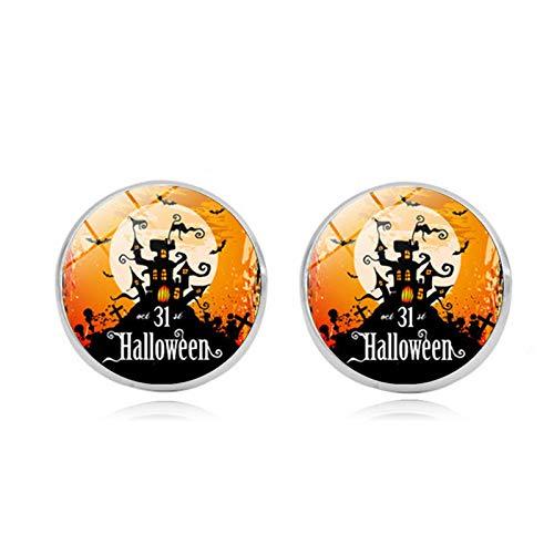 Blisfille Happy Halloween Edelstein Ohrstecker Mode Ohrringe Ohrhaken Ohrstecker Herren Damen Schmuck