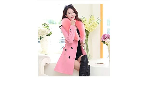 Double Hair Collar Breasted Coat Ladies' Sleeved Long Hjhkjhiu xUq5HIpwn