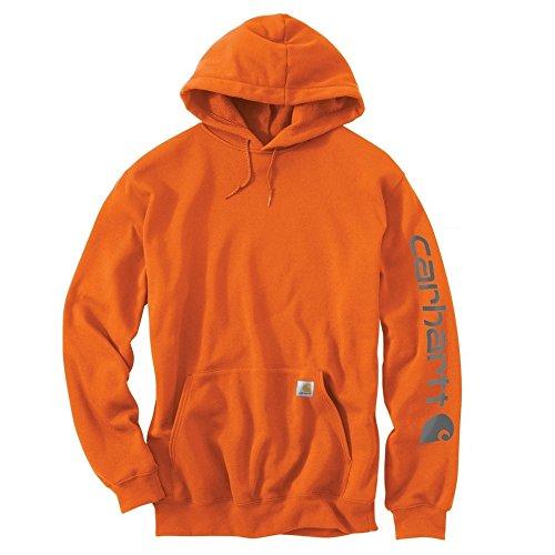 Preisvergleich Produktbild Carhartt Midweight Signature Sleeve Logo Hooded Sweatshirt - Kapuzenpullover (M,  orange)