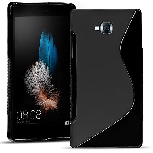 Conie SC15467 S Line Case Kompatibel mit LG G Pro Lite, TPU Smartphone Hülle Transparent Matt rutschfeste Oberfläche für G Pro Lite Rückseite Design Schwarz
