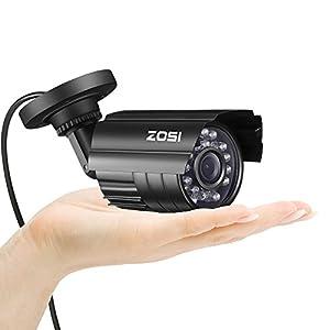 ZOSI-HD-800TVL-24PCS-IR-LEDs-36mm-lens-with-IR-Cut-CCTV-Camera-Home-Security-DayNight-Waterproof-Camera-65ft20m-IR-Distance-Aluminum-Metal-HousingBlack