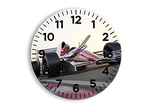 Horloge Murale - Ronde - Horloge en Verre - Pendule murales - 60x60cm - 2423 - Mécanisme d'écoulement - Silencieux - prete a Suspendre - Moderne - Décoration - Pret a accrocher - C4AR60x60-2423