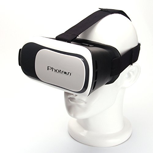Photron PHVR30 2nd Generation VR Headset Virtual Reality 3D Box Glasses Gear comes with 34mm lenses Fully Adjustable VR Glasses for VR Video, Gaming, Movies, Pictures, for 4.6-6 inch Screen Phones, Inspired by Google Cardboard, Oculus Rift and Samsung Gear – VR Glasses works with leading android, iOS based smartphone brands like Motorola, Samsung, Xiaomi, ZTE, HTC, Nexus, Apple iPhone, Micromax, Lenovo, OnePlus, Redmi, etc
