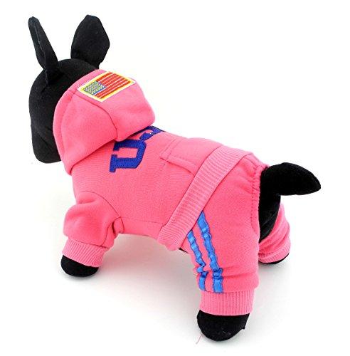 Pet Cat Hundemantel Hunde Pullover weicher Baumwolle Hoodie USA Pullover Kostüme Hund Kleidung S M L XL XXL (Run Kleine, Bitte die nächsten nehmen (Kostüme Halloween In Bichons)