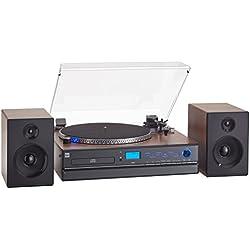 Dual NR Minicadena con tocadiscos (Reproductor de CD, MP3, 3,5mmm) Negro