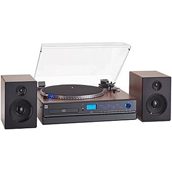 dual nr chaine compacte avec tourne disques lecteur cd mp3 3 5 mm noir high tech. Black Bedroom Furniture Sets. Home Design Ideas
