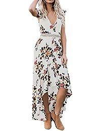 Vestiti Stampata Vestito da Donna Elegante    feiXIANG Donne Sexy Abito Sera  Festa Spiaggia Abiti Sundress. 549a6bbfb95