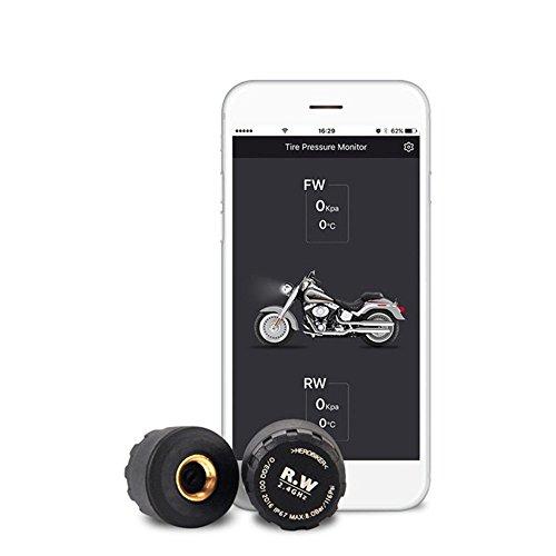 Preisvergleich Produktbild Yongliang Bluetooth Reifendruck-Überwachungssystem,  Echtzeitüberwachung des Externen Sprachalarms,  Kompatibel mit Ios und Android