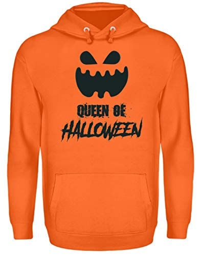 Queen of Halloween - Kürbis - Pumpkin - Happy Gift Idea - Fun Gag - Unisex Kapuzenpullover Hoodie -XL-Mandarin Orange