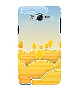 printtech Nature Animated Bunny Fishing Back Case Cover for Samsung Galaxy J7 / Samsung Galaxy J7 J700F
