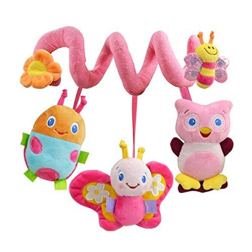 Baby Spiral Kinderwagen Spielzeug Plüsch Schmetterling Eule Biene Hängendes Rassel Spielzeug zum Autositz Kinderbett Mobile von SamGreatWorld (Eule Für Baby Kinderbett Mobile)