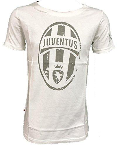 Perseo t-shirt juventus calcio abbigliamento retro' juve ps 26995 logo storico-m-bianco