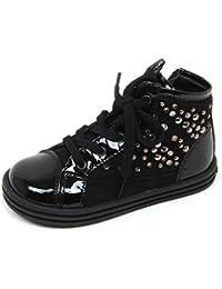 412057e00f59a Hogan C8198 Sneaker Bimba Rebel R141 Scarpa Borchie Nero Boot Shoe Kid
