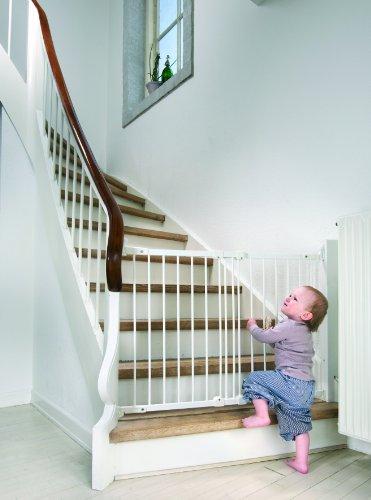 Baby Dan Flexi Fit Metall super flexibles Schutzgitter für Türen und Treppen 67 – 105,5 cm – hergestellt in Dänemark und vom TÜV GS geprüft, Farbe: Weiß - 2