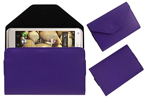 Acm Premium Pouch Case For Lenovo S880 Flip Flap Cover Holder Purple  available at amazon for Rs.179